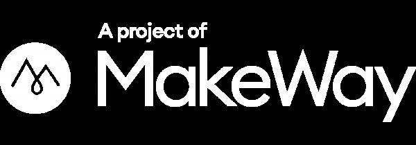 MakeWay project logo white